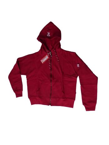 SWEAT SHIRT HOOD ZIP LADIES Chili